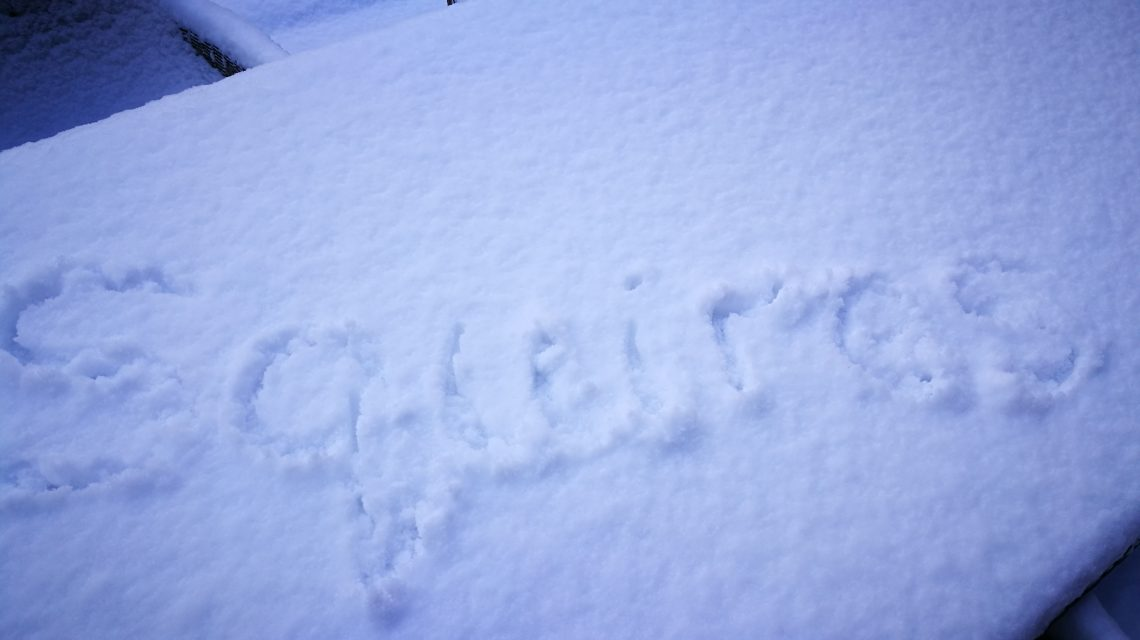 Writing Squires in the snow
